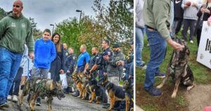K9 Officer Is Met With A Hero's Welcome After Surviving A Bullet To The Head