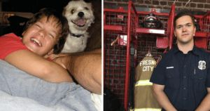 Firefighter Rescues Veteran's Dog 21 Years After His Own Dog Was Saved