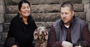 Dog's Silly Expressions Are the Highlight of Family's Holiday Photos