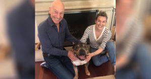 Patrick Stewart and Sunny Ozell Foster Their Third Pit Bull, and Have Already Fallen in Love!