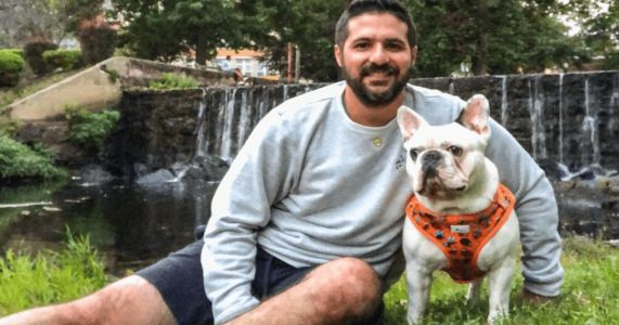Dude And His Adorable Dog Rake In Contest Votes With A Little Help From Their Friends