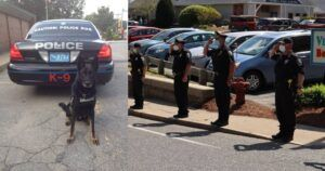 Officers Line Up For Police Dog's Last Ride Ever
