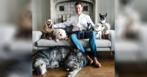 """Man Handcrafts His Fur Family with the """"Least Adoptable"""" Dogs"""