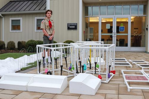 Eagle Scout Garrett Martin Presents Project for the Puppies