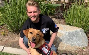 Police Officer with PTSD Forms an Instant Bond with His New Service Dog!