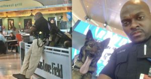 Policeman Spots His Selfie Session With K9 Online & Shares The Pics