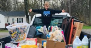 9-Year-Old Raises Funds To Donate A Truckload Of Supplies To Local Shelter