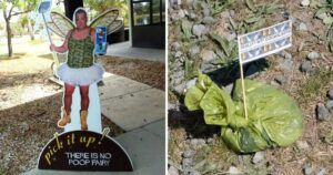 """Photographer """"Flags"""" Dog Walkers Who Neglect To Dump Their Pups' Poop"""