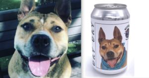 Woman Finds Long Lost Dog After Seeing Her Photo On A Beer Can