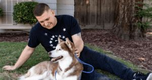 Navy Recruiter Reunited With Lost Husky 7 Years Later